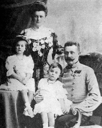 František Ferdinand d'Este s rodinou